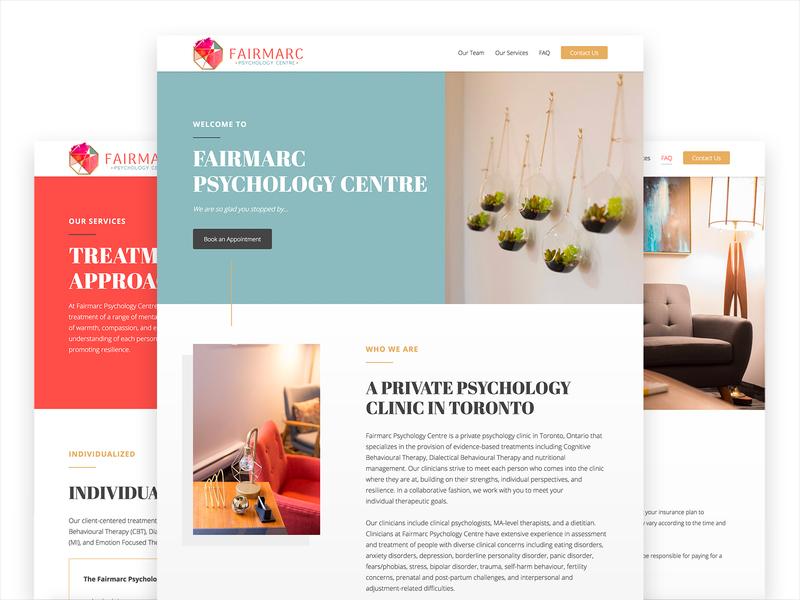 Fairmarc Website UI / UX faq styleguide adaptive ux calm web design ui