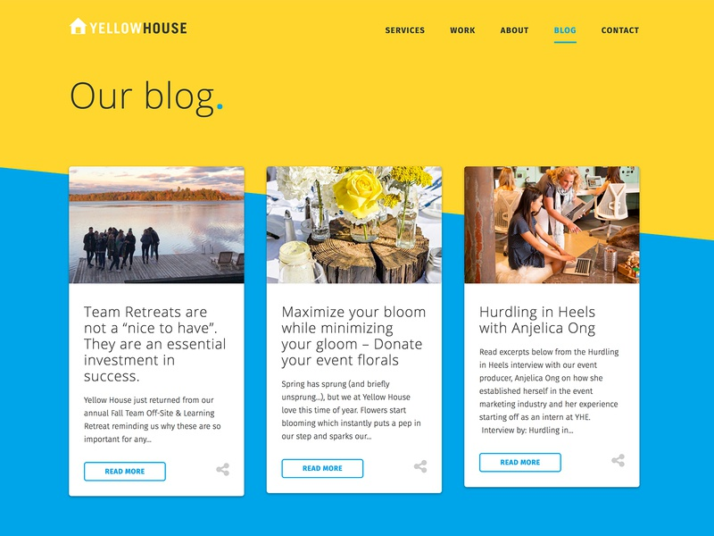 Waterfall Blog Layout ux design css grid primary colors ui symetrical blog waterfall grid