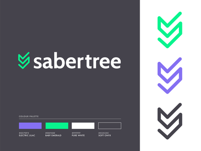 Sabertree - Brand Guide design simple branding style guide