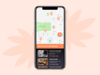 Mobile map for cannabis dispensaries - Daily UI Challenge