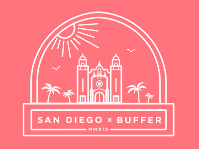 Buffer San Diego Retreat T Shirt Design buffer san diego