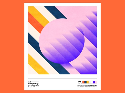 Rhapsody - 02 lines system design identity palette lineart artwork colors circle abstract pattern minimal illustration branding logo graphic design
