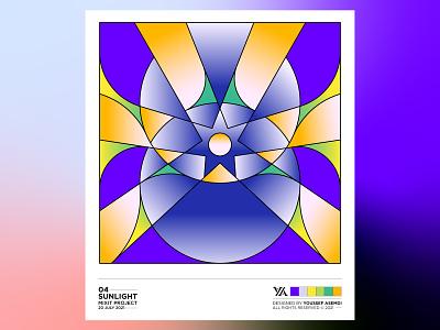 SUNLIGHT - 04 artwork eye sun sunlight abstract lineart system design graphic design color palette palette colors pattern pattern design ui design minimal illustration identity branding