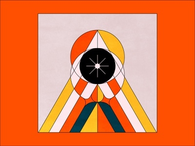 I DROP - 06 drawing lineart white black orange yellow system design shapes colors triangle abstract eye ui minimal illustration