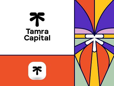 Tamra Capital - Identity money investment currency capital t logo arrow graphic design visual identity pattern plam treelogo design typography logomark minimal identity brand logo branding