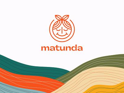 Matunda face smile cute fruits typography logomark identity brand minimal branding logo