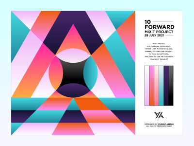 FORWARD - 10 minimal abstract forward gradient identity branding colors pattern