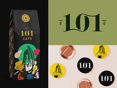 101 Coffee. 1 beans numbers coffee cafe logomark minimal identity brand logo branding