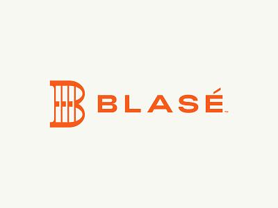 BLASÉ dynamic active bars b logo rebell streetwear clothing lockup typography logomark identity brand logo branding