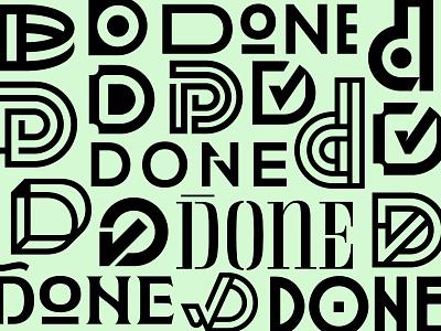 DONE - LOGO Exploration concepts process exploration production done d logo minimal identity typography logomark branding logo