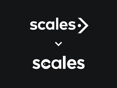 Scales Redesign minimal s logo sea animal rebranding redesign typography smart logo fish negative space logomark branding logo
