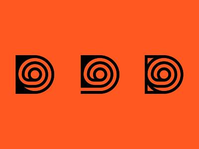 D exploration branding brand typography vintage movie circle loop minimal negative space d logo production house tape film logomark logo