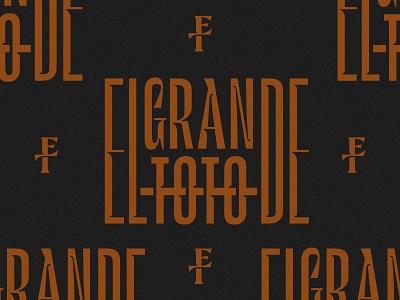ElGRANDE TOTO monogram logotype logo minimal logomark branding identity typography