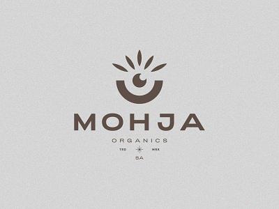 MOHJA identity minimal aesthetics brand typography logomark product cosmetic organics plant vase eye mark branding logo