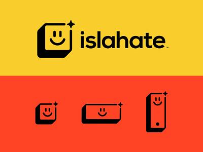 Responsive logo minimal identity box face smile tech logomark responsive logo branding