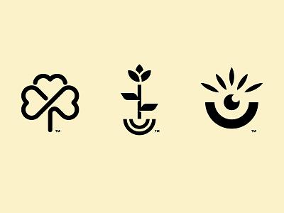 MOHJA concepts cosmetics leaf tree organic m logo natural smile plant heart vase logomark logo branding