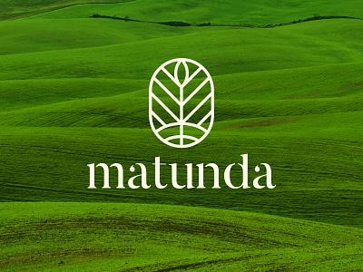 Matunda plant vegetables natural organic nature agriculture lines fruits farm field typography logomark logo branding