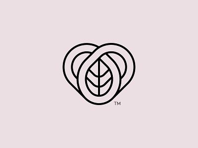 A concept For Amelia. leaf heart identity logomark logo branding