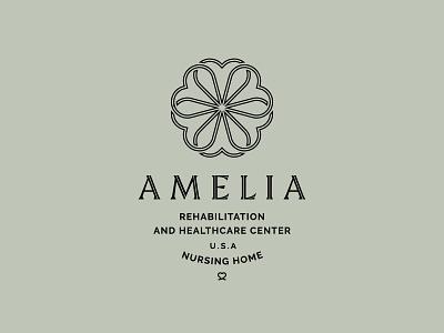Amelia flower heart typography identity logomark minimal logo branding
