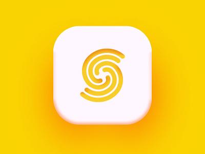 SuperMain yellow ui s logo minimal icon app logomark branding logo