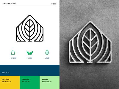 Amelia Logo concept. health care care leaf house logo branding logomark