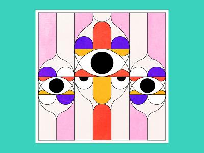 Third eye! vector drawing pattern eye branding illustration