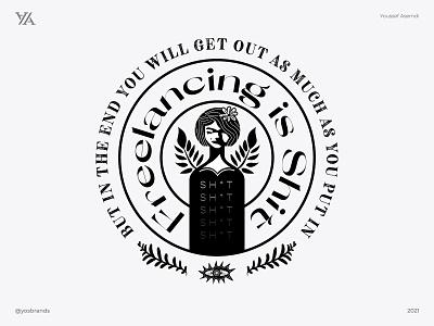 FREELANCING freelancing typography minimal branding illustration