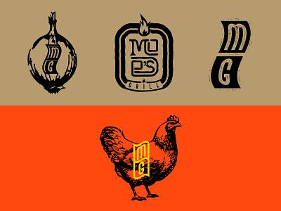 Moe's grill identity snack restaurant fast food grill logomark logo branding