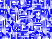 A bleu pattern
