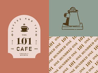 THE 101 CAFE ui design ux design web animation ui ux colors cafe logo typography minimal logomark mark identity brand branding logo coffee shop coffe tea cafe