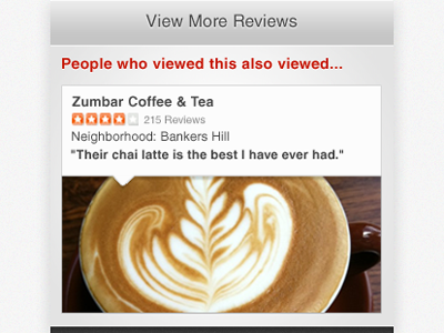 suggestion! yelp photo caption coffee picture business footer mobile latte