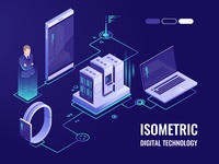 Digital technology isometric
