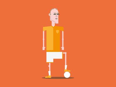 Arjen Robben arjen robben dutch soccer world cup brazil netherlands character design illustration
