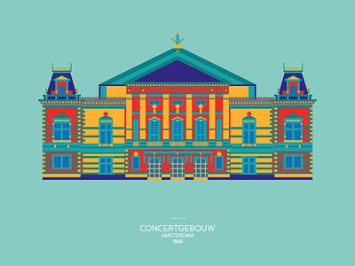 Concertgebouw amsterdam concertgebouw 1888 illustration