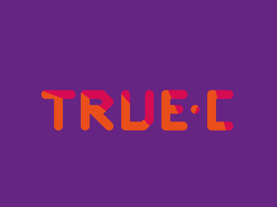 True-C Logo Design true colors logo design flat vector playing art culture setting