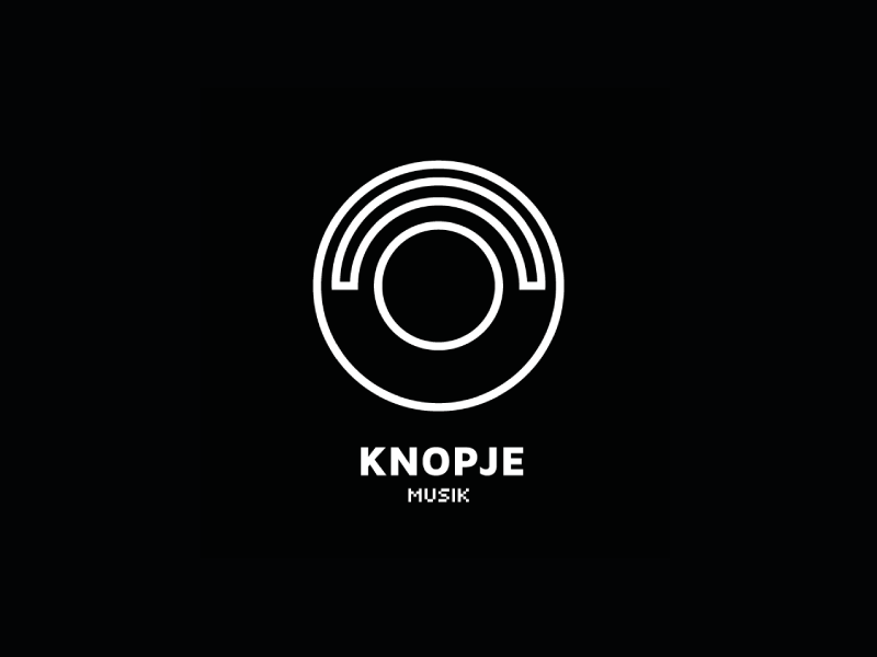 Knopje Logo knopje logo design logodesign vector branding record label dutch techno