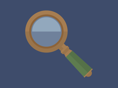 Magnifying Glass! magnifying glass vector flat design animation illustration awesome