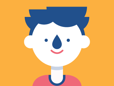 Profile Pic drip nose illustration face vector