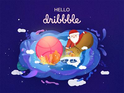 Hey, Dribbble! ui 插图