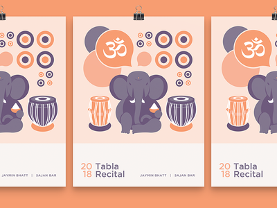 Tabla Recital ohm ganesh poster recital tabla