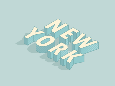 New York Isometric type isometric nyc new york