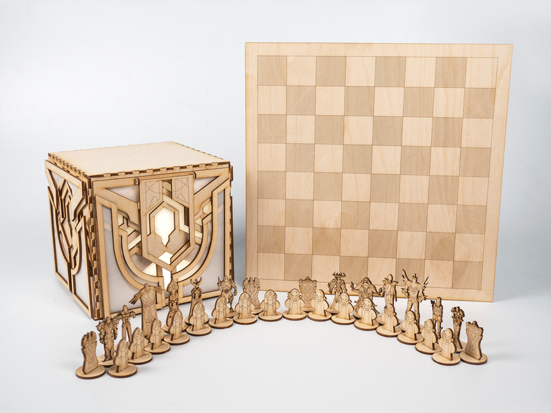 Laser-cut League of Legends Chess Set make craft riot games diy laser cut chess leagueoflegends