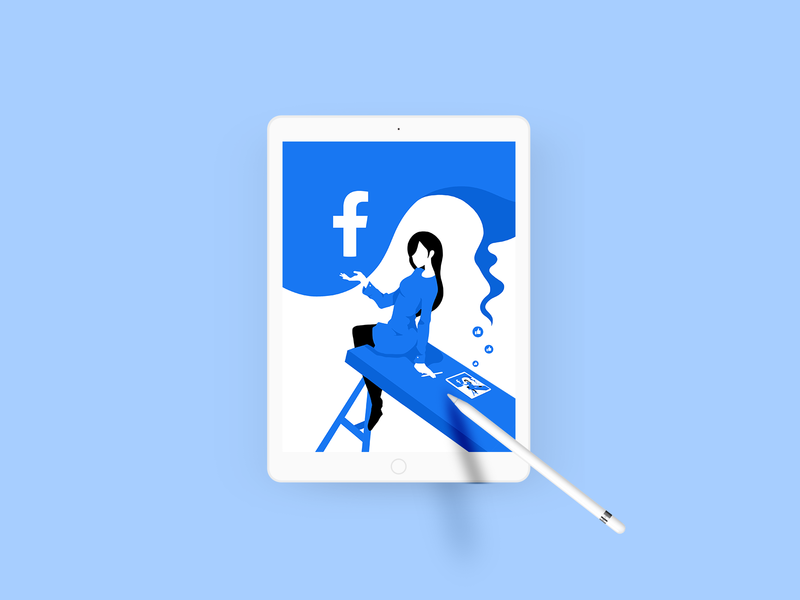 Incoming FB Product Designer product design illustration ipad procreate facebook