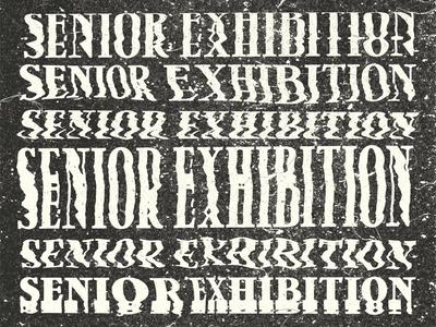 Senior Exhibition Distortion senior show senior exhibition nmu senior stretch scanner glitch distort scanned scan