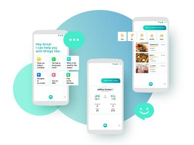 Voice UI card design