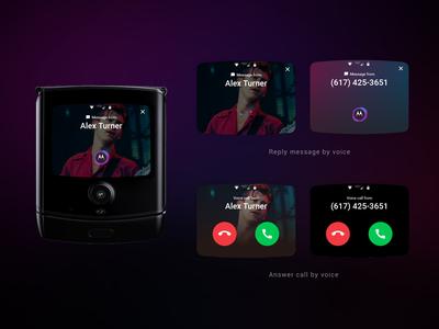 Voice reply UI on Motorola Razr