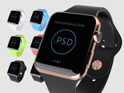 Apple Watch Free Mockup PSD ios app mockup watch apple free psd template