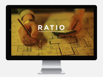 RATIO - Golden ratio & Silver ratio Calculator - app flat calculator silver golden ratio web design