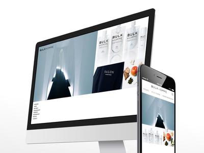 BULKHOMME   - corporate site - cosme ui pc simple web design