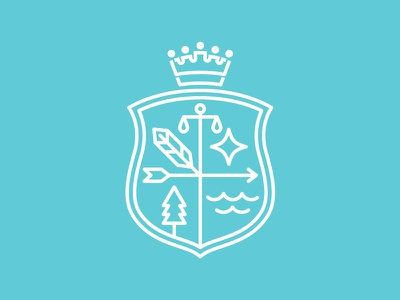 Emblem design type_A flat emblem shield design logo